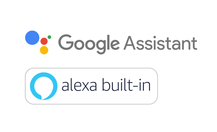 Лога на Google Assistant и Alexa built-in