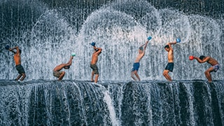 ilkin-karacan-sony-alpha-7RII-youngsters-with-buckets-bathing-atop-a-waterfall