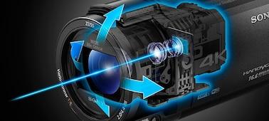 Снимка на AX43 4K Handycam® със сензор Exmor R™ CMOS